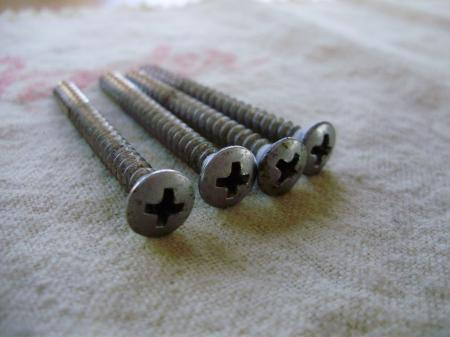 1969 MINT ORIG FENDER STRATOCASTER NECK SCREWS