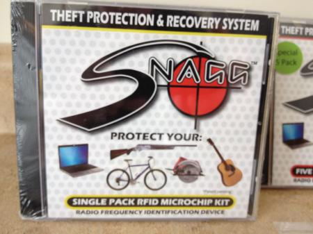 Snagg In case your Guitar Gets Stolen Recovery Chip 1 Kit