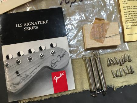 1999 Fender Eric Clapton Strat Owners Manual & More RARE PARTS!