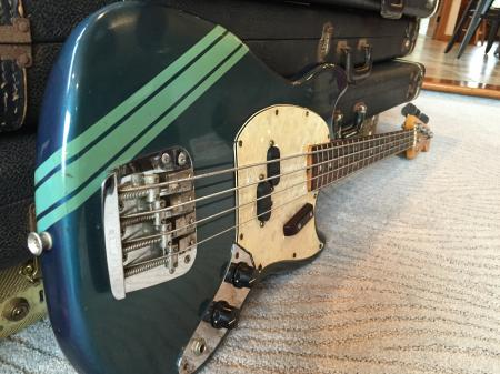 1973 ORIG Fender Blue Competition Blue Mustang Bass