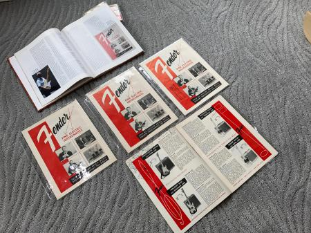 1956 Orig Fender Fine Electric Intruments 8 Page Catalog With Dealer Hand Writing Inside On Prices