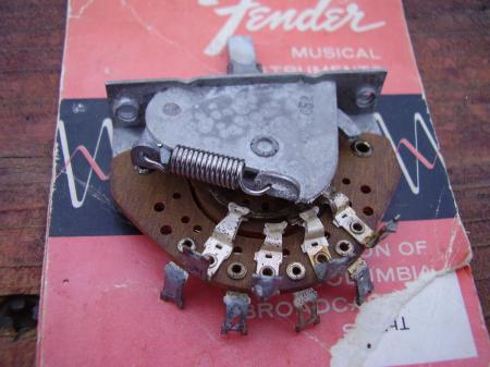 1956 ORIGINAL 3 WAY CRL 1452 FENDER STRAT SWITCH