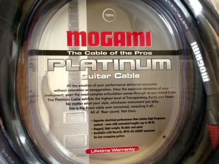 MOGAMI 12' Platinum Guitar Cable With Silent Plug THE BEST