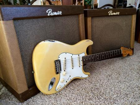1966 Orig Finish Olympic White Fender Strat With Bound Neck