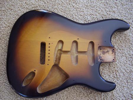 1956 2 Tone Orig Fender Stratocaster Body Nice Find
