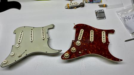 1964 Green 1965 Turtle Fender Strat Pickup Assembly