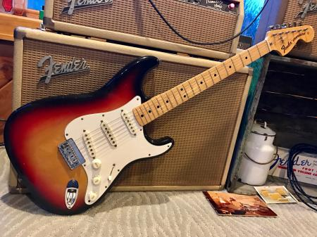 1975 Orig Fender Strat Under 7lb Jan 75