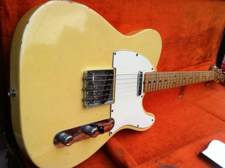 1967 Orig Blond Fender Tele With Nitro & Maple Cap Neck