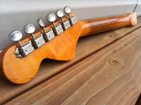Fender Stratocaster Neck >> 1966 Orig Fender Stratocaster Neck Factory Bigger Frets