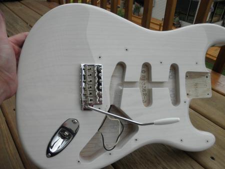 1960 ASH Olympic White Custom Shop  NOS Fender Strat Body