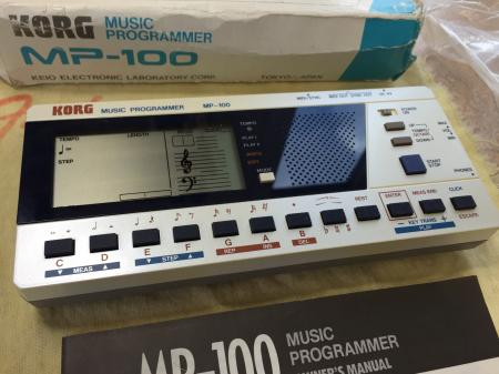 1985 Orig NOS NEW! KORG MP-100 Music Programmer MIDI Mini-Sequencer Vintage