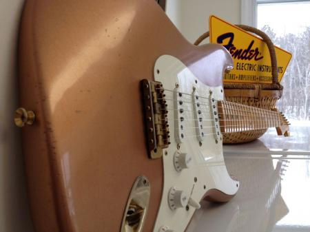 1954 Fender Copper Metallic USA 2009 Custom Shop Strat Has Unreal Flamed Neck Only One Made