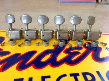 1957 Orig Collector Grade Kluson Single Line Fender Strat Tuners