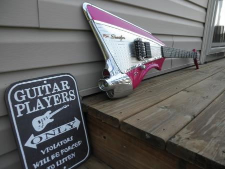 1980 s Kramer American Showster USA Proto Neon Pink 57 Chevy Guitar