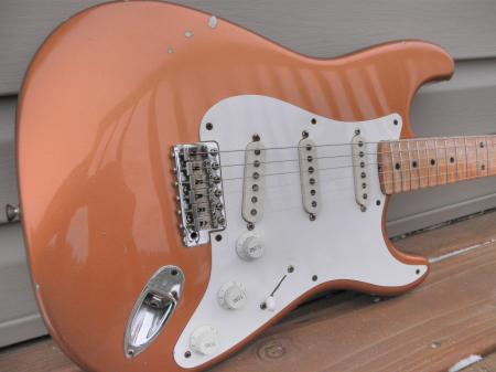 1954  #7 of 40 Made Cunetto Fender Strat Relic Flame Neck Tone Player