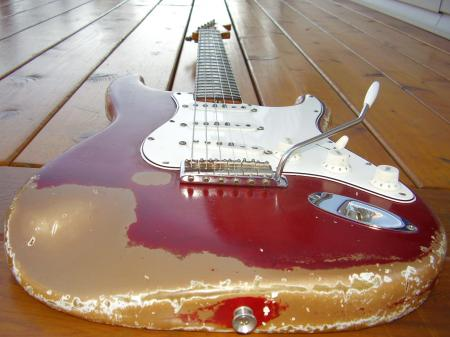 1965 Orig Finish Candy Apple Red Fender Stratocaster. Pro Owned.