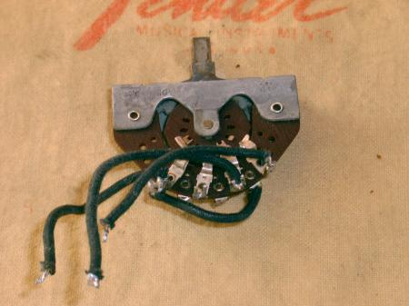 1954 ORIG 3-WAY FENDER STRAT SWITCH WITH WIRES