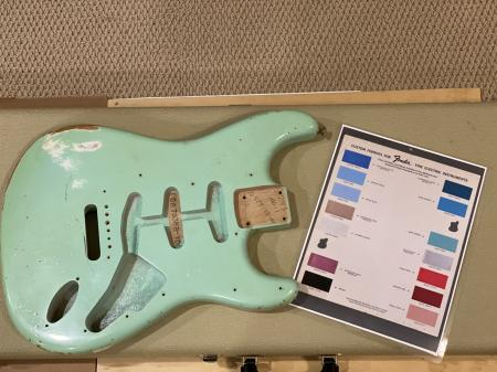 1960 SURF GREEN Fender Custom Shop Strat Relic Body