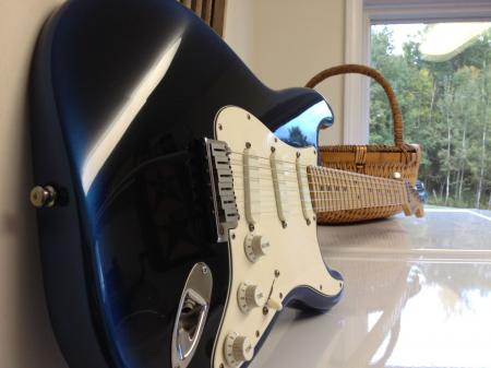 1991 Fender Stratocaster Plus  Blue Pearl Dust  Signed by Satc