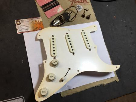 1954 1997 Cunetto Relic Fender Stratocaster Pickup Assembly