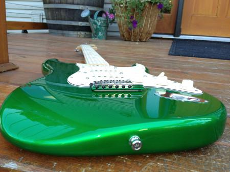 2012 Fender Strat Pro Candy Green Nitro Finish ONLY HERE