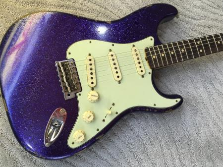 1962 2015 Fender Heavy Relic Purple Sparkle Strat With Hand Wound Pups