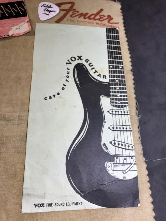 1964 Orig VOX Care of your Guitar Case Candy
