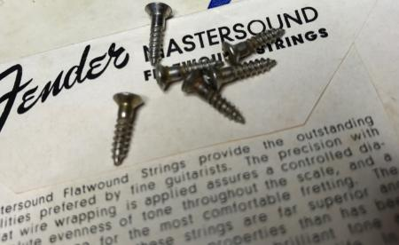 1954 ORIG FENDER STRATOCASTER BACK TREM COVER 6 SCREWS