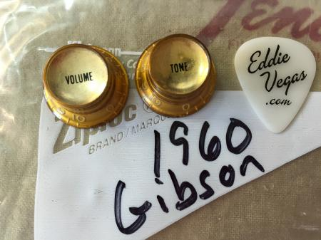 1960 Original Gibson Melody Maker Vol & Tone Gold Knobs