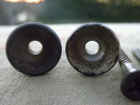 1956 Orig MY Dirtiest Ever Fender Strat Strap Buttons