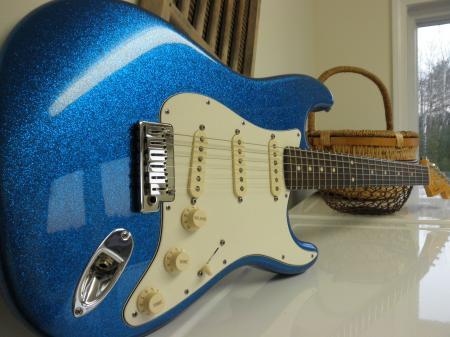 2011 Blue Sparkle Custom Classic Fender Stratocaster