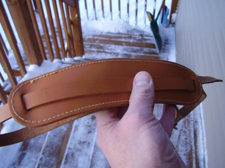 1956 ORIG  PRE CBS FENDER STRATOCASTER Brown Leather GUITAR STRAP