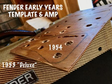 1954 Orig Fender Stratocaster Template Leo Used In The Fender Building Of The 1sy Year Strat