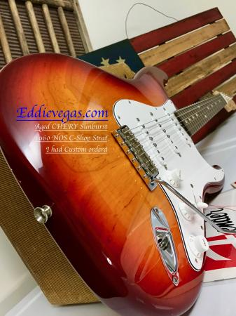 1960 NOS Relic 2011 Fender Strat Custom Color AGED CHERRY SUNBURST