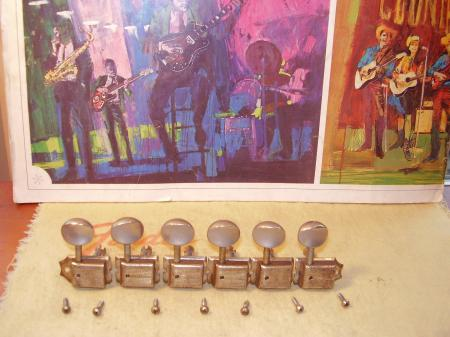 1954 No Line Kluson Tuners SOLID Excellent Shape!