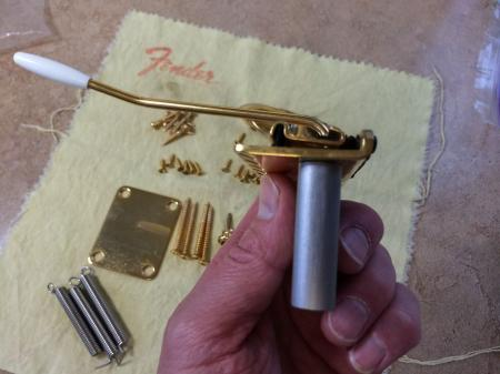 1957 GOLD Callahan Fender Strat Bridge & More Gold Parts