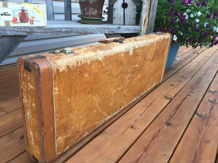 1955 Original Tweed Fender Stratocaster Case Great Shape!