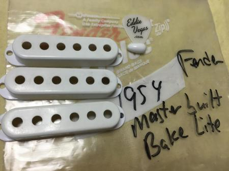 1954 Bake Lite Masterbuilt Fernder Strat Pickup Covers & Switch Tip