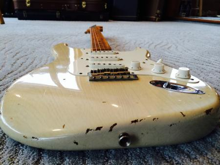 1956 John Cruz Just After Cunetto Fender Relic 7.5lb Blonde Strat