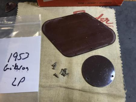 1953 Original Gibson Les Paul Back Covers With Screws