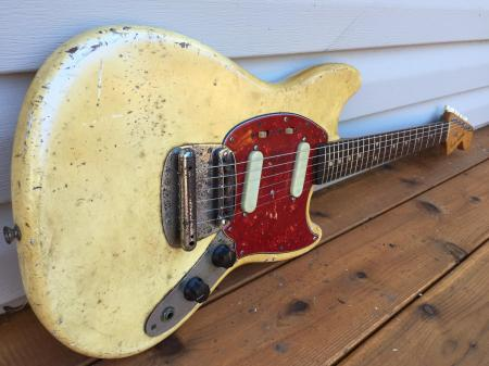 1966 ORIG My Own Personal Fender Unreal Earned Wear Olympic White Mustang