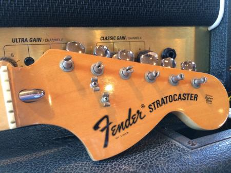 1973 ORIG FENDER  MAPLE STRAT NECK WITH TUNERS VERY CLEAN